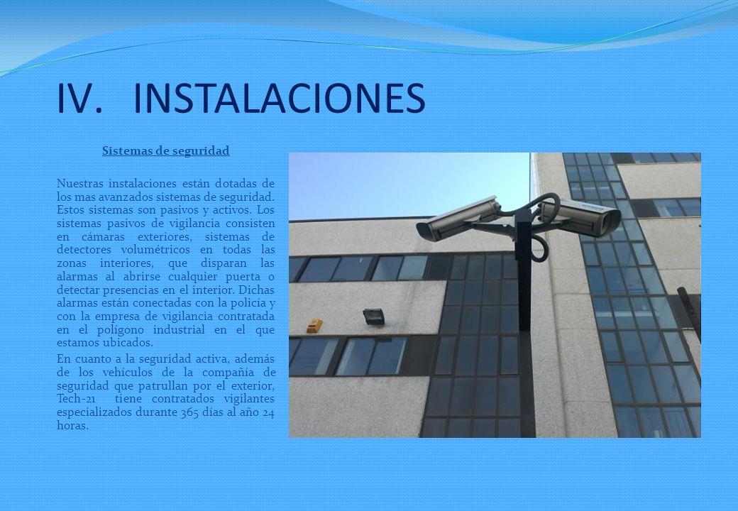 INSTALACIONES Sistemas de seguridad
