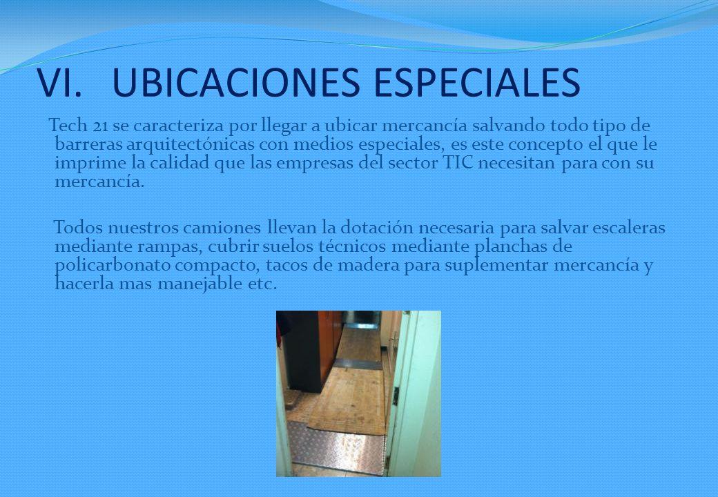 UBICACIONES ESPECIALES