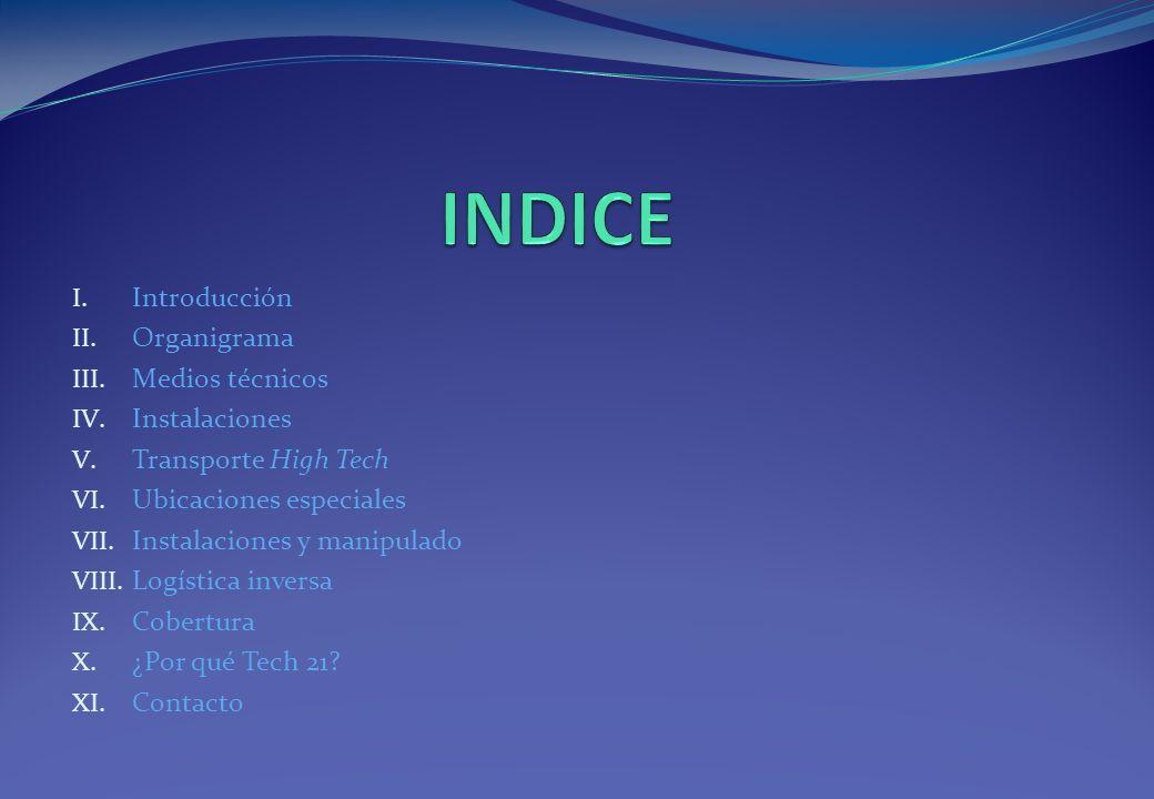 INDICE Introducción Organigrama Medios técnicos Instalaciones