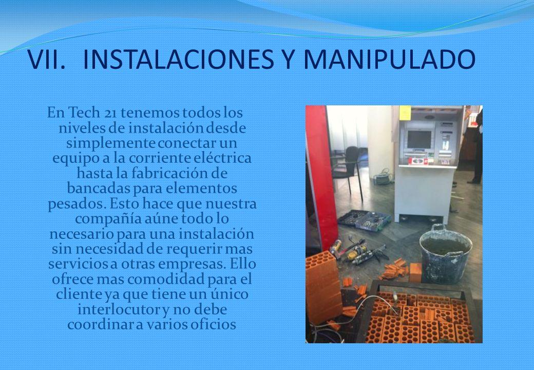 INSTALACIONES Y MANIPULADO