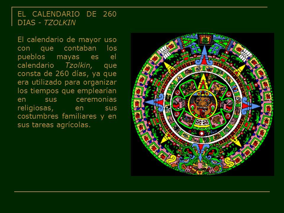 EL CALENDARIO DE 260 DIAS - TZOLKIN