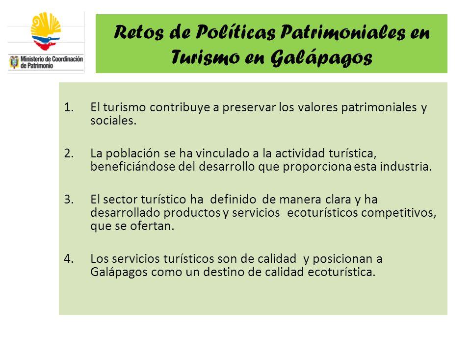 Retos de Políticas Patrimoniales en Turismo en Galápagos