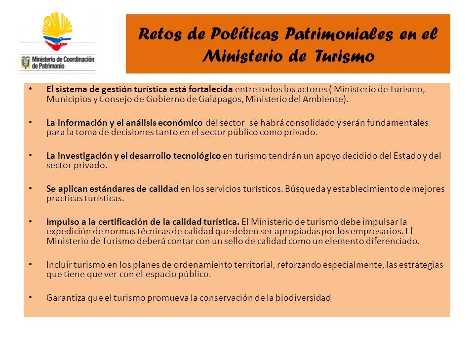 Retos de Políticas Patrimoniales en el Ministerio de Turismo