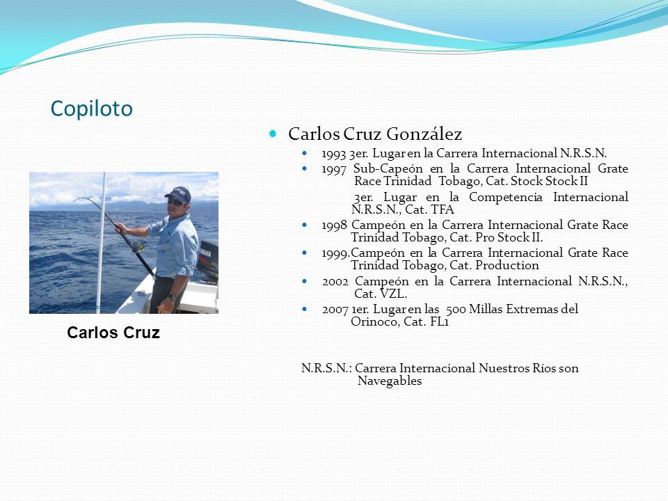 Copiloto Carlos Cruz González Carlos Cruz