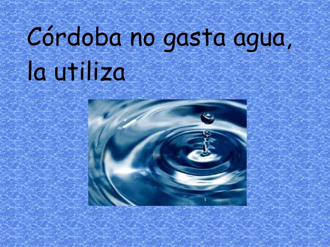 Córdoba no gasta agua, la utiliza
