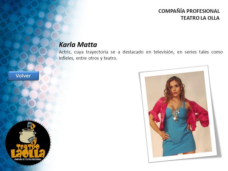 Karla Matta COMPAÑÍA PROFESIONAL TEATRO LA OLLA Volver
