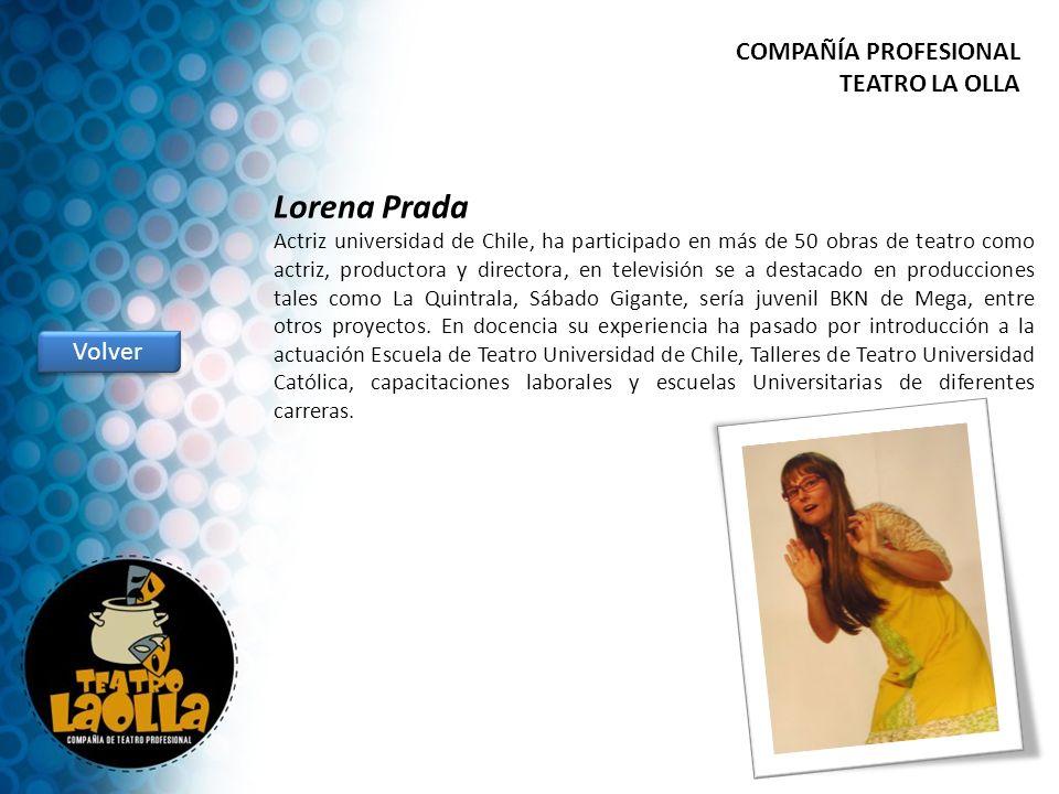 Lorena Prada COMPAÑÍA PROFESIONAL TEATRO LA OLLA Volver