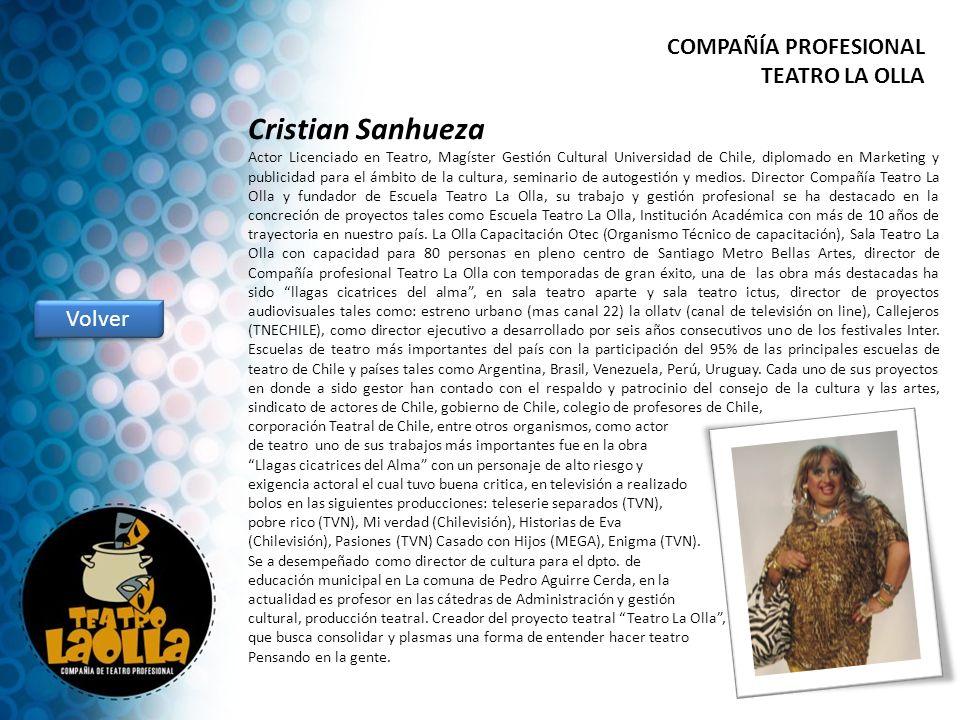 Cristian Sanhueza COMPAÑÍA PROFESIONAL TEATRO LA OLLA Volver