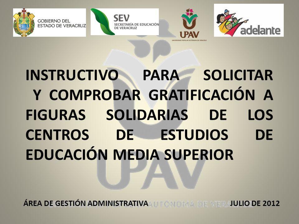 ÁREA DE GESTIÓN ADMINISTRATIVA JULIO DE 2012