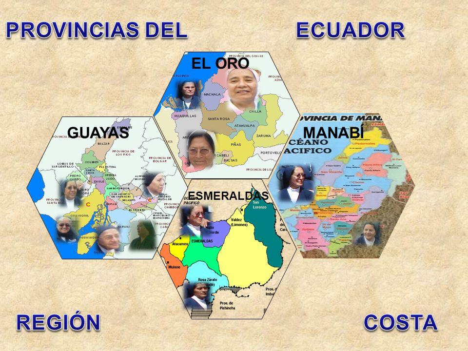 PROVINCIAS DEL ECUADOR REGIÓN COSTA