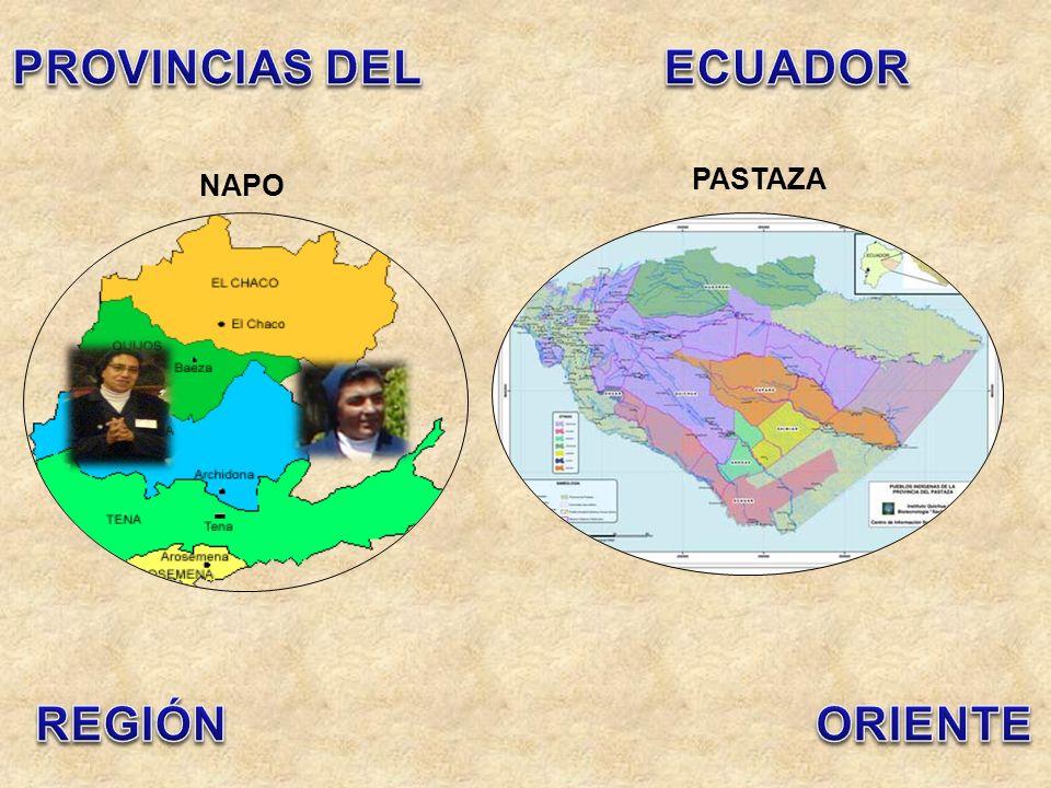 PROVINCIAS DEL ECUADOR REGIÓN ORIENTE