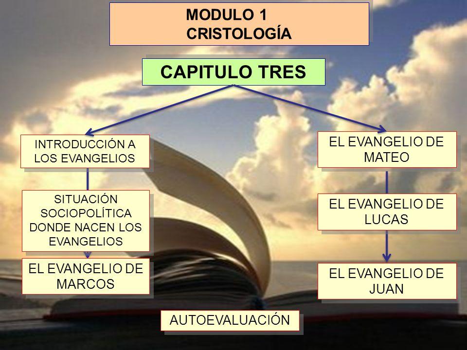 CAPITULO TRES MODULO 1 CRISTOLOGÍA EL EVANGELIO DE MATEO