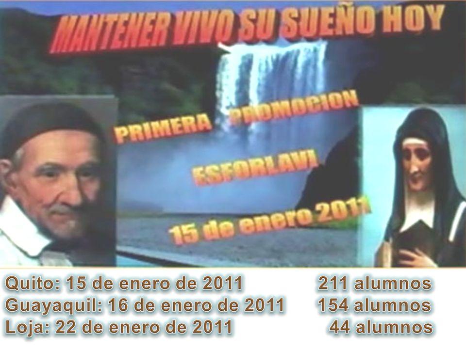 Quito: 15 de enero de 2011 211 alumnos