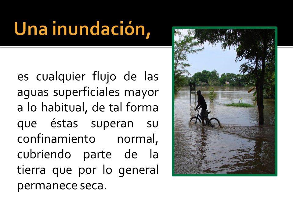 Una inundación,