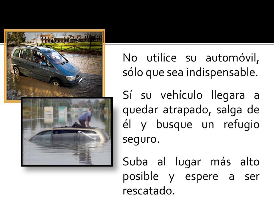 No utilice su automóvil, sólo que sea indispensable.