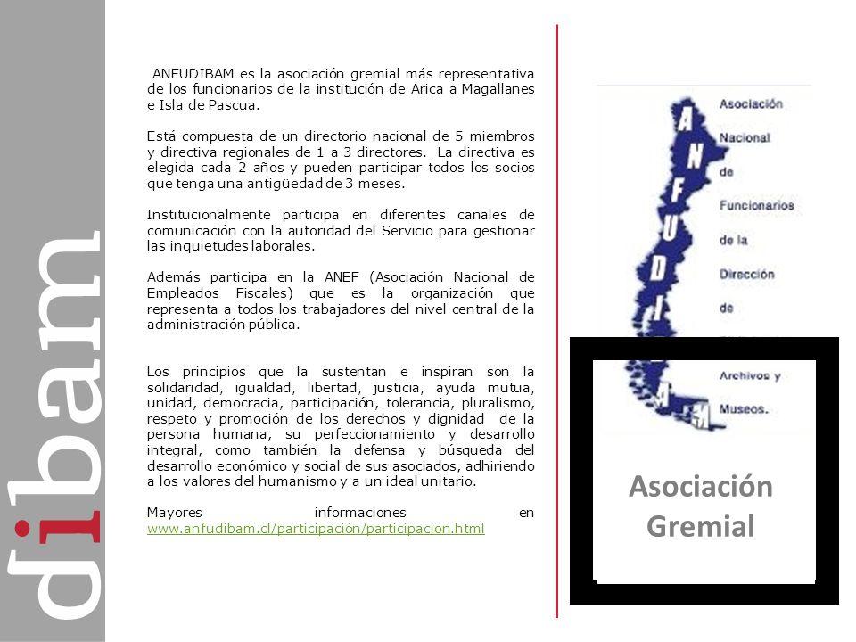 ANFUDIBAM es la asociación gremial más representativa de los funcionarios de la institución de Arica a Magallanes e Isla de Pascua.