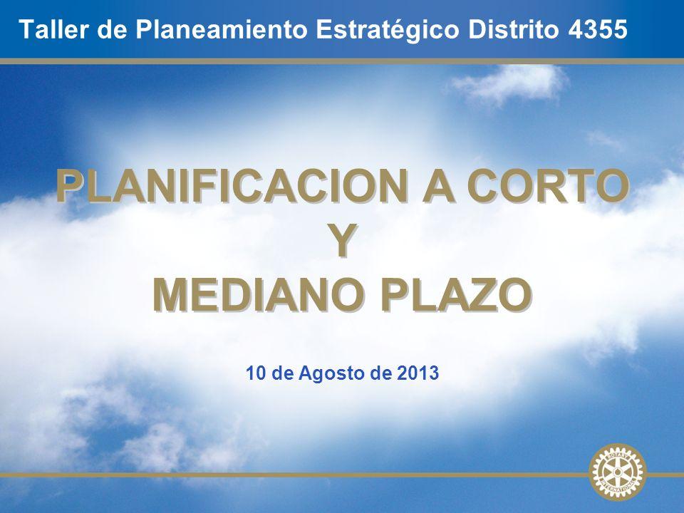 Taller de Planeamiento Estratégico Distrito 4355