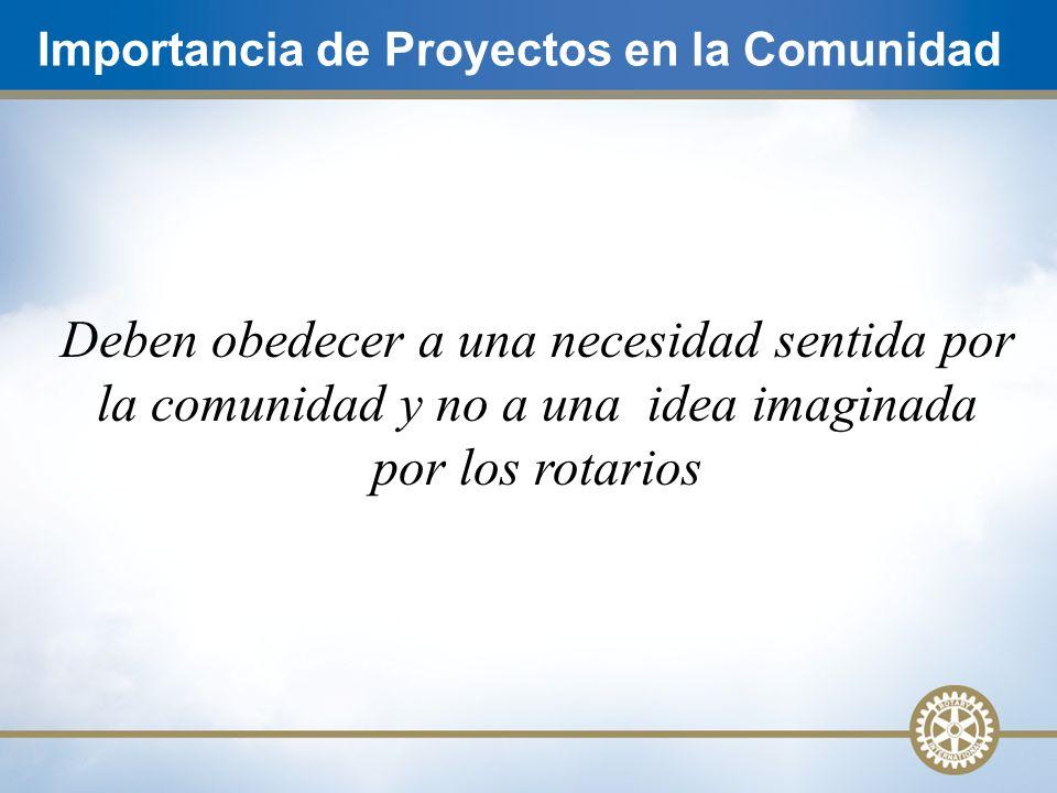 Importancia de Proyectos en la Comunidad