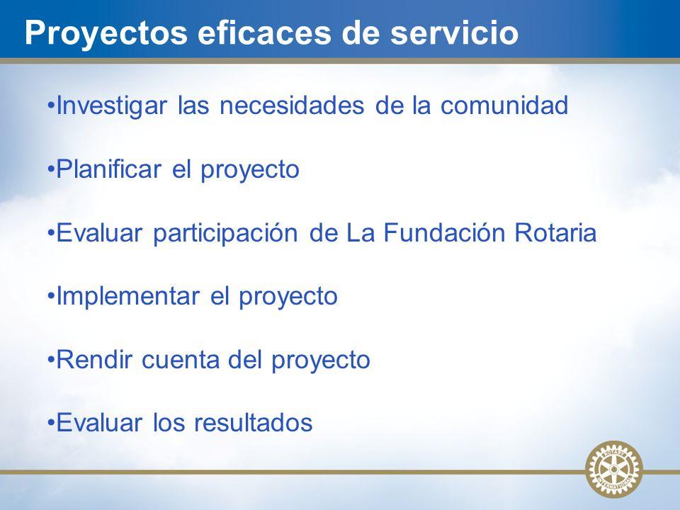 Proyectos eficaces de servicio