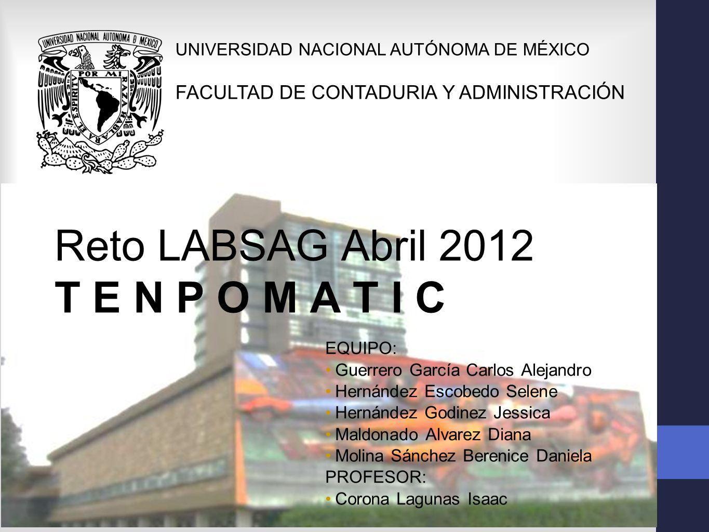 Reto LABSAG Abril 2012 T E N P O M A T I C