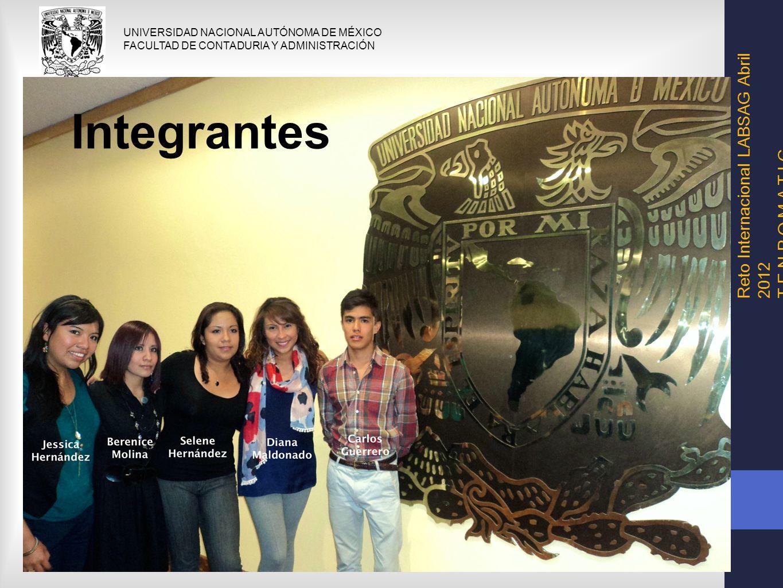 Integrantes Reto Internacional LABSAG Abril 2012 T E N P O M A T I C