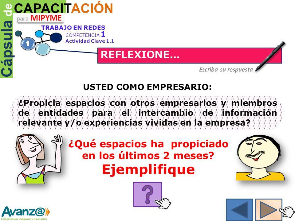 Cápsula de CAPACITACIÓN REFLEXIONE...