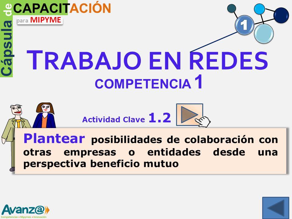 TRABAJO EN REDES Cápsula de CAPACITACIÓN 1 COMPETENCIA 1