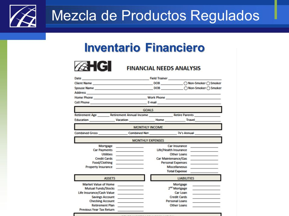 Mezcla de Productos Regulados
