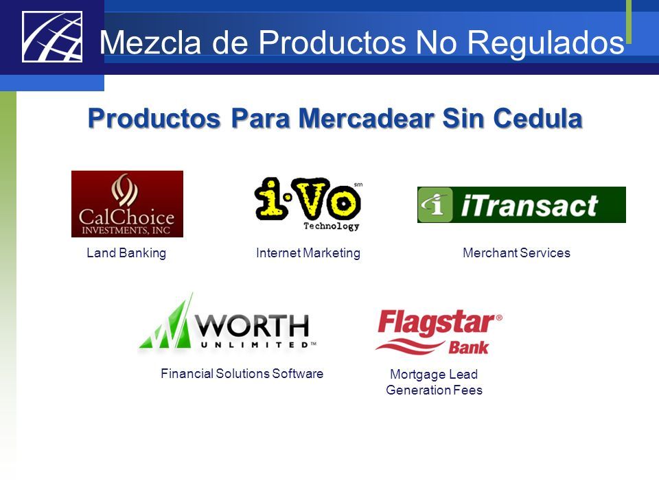 Mezcla de Productos No Regulados