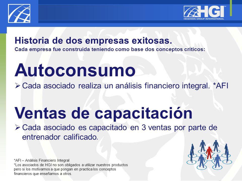 Autoconsumo Ventas de capacitación Historia de dos empresas exitosas.