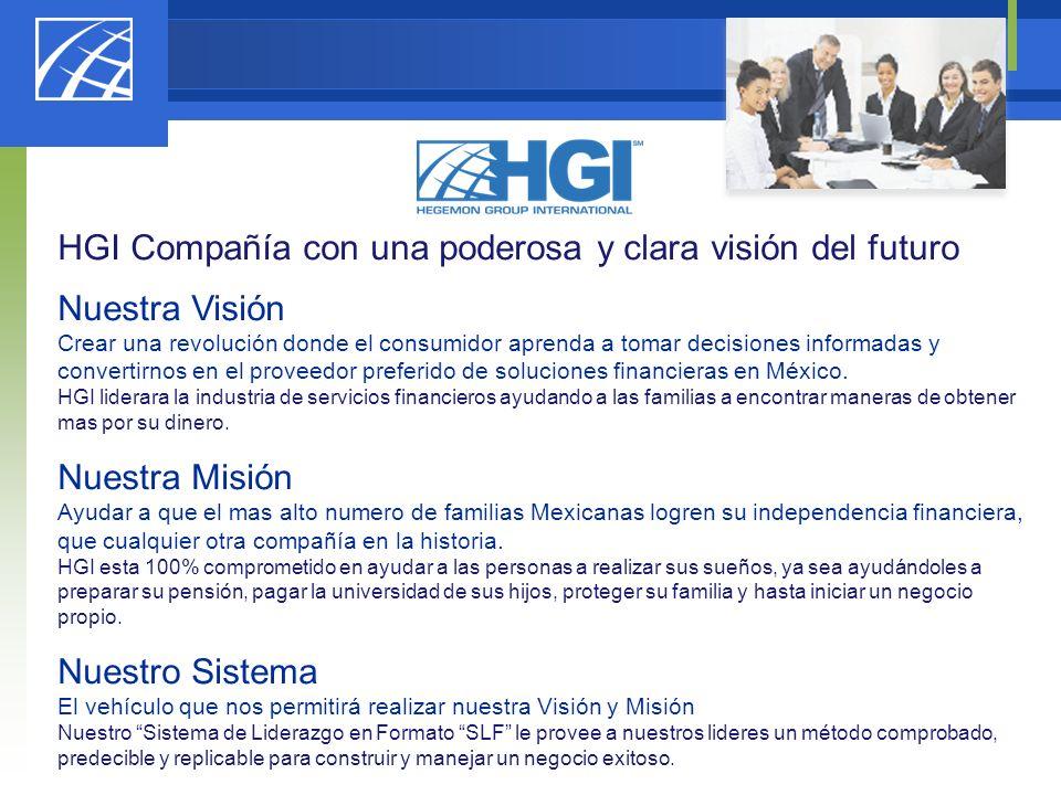 HGI Compañía con una poderosa y clara visión del futuro Nuestra Visión