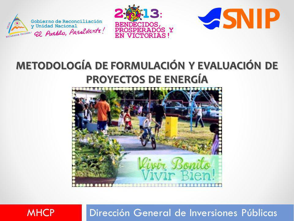 METODOLOGÍA DE FORMULACIÓN Y EVALUACIÓN DE PROYECTOS DE ENERGÍA