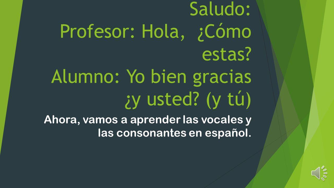 Ahora, vamos a aprender las vocales y las consonantes en español.