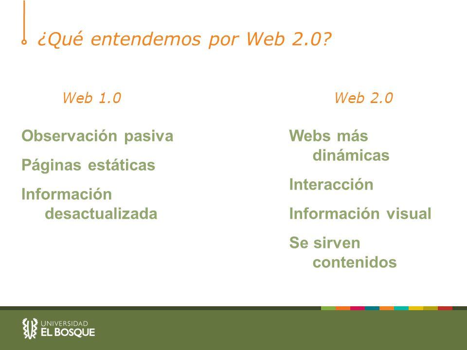¿Qué entendemos por Web 2.0