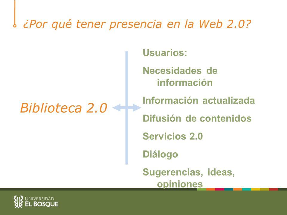 ¿Por qué tener presencia en la Web 2.0