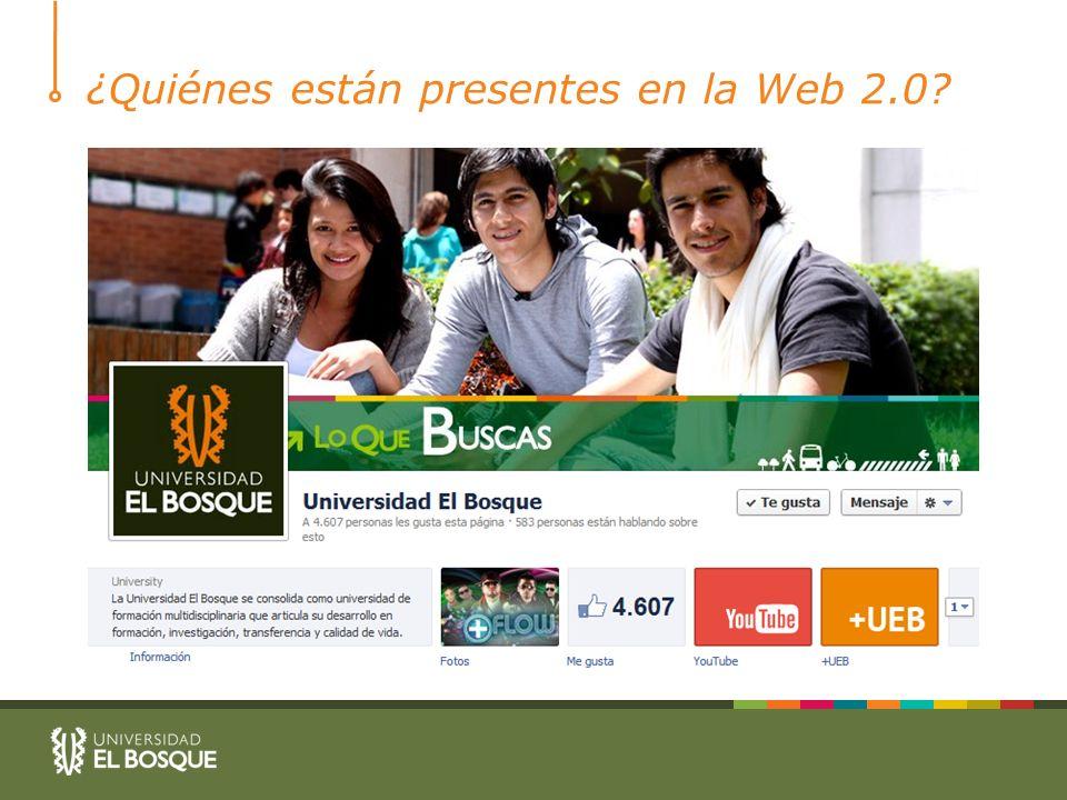 ¿Quiénes están presentes en la Web 2.0