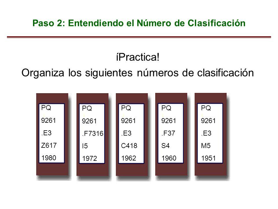 Paso 2: Entendiendo el Número de Clasificación
