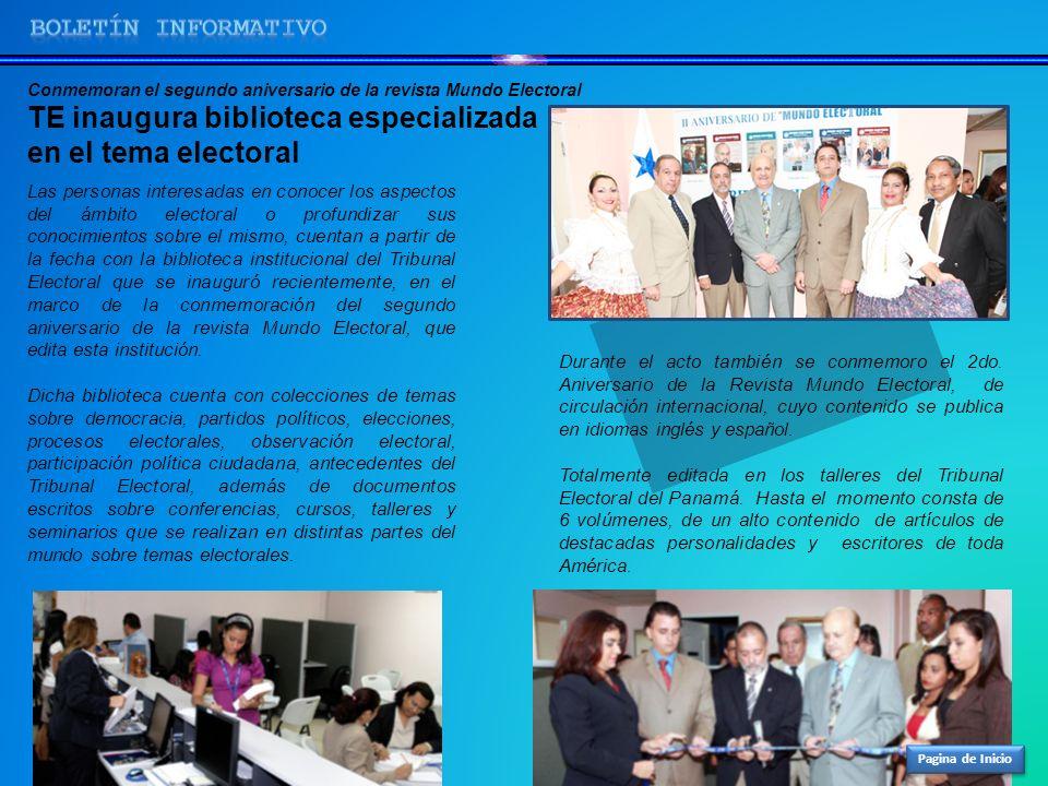TE inaugura biblioteca especializada en el tema electoral