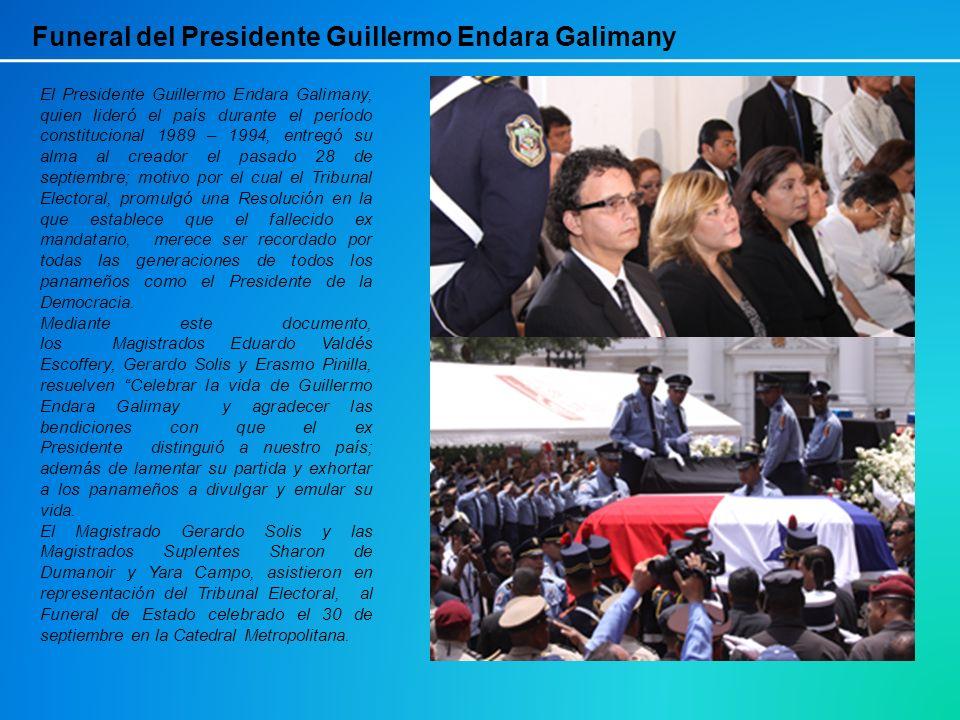 Funeral del Presidente Guillermo Endara Galimany