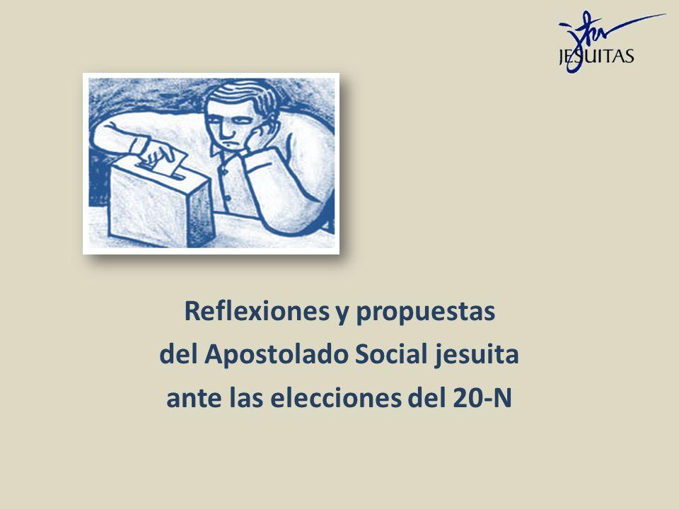 Reflexiones y propuestas del Apostolado Social jesuita