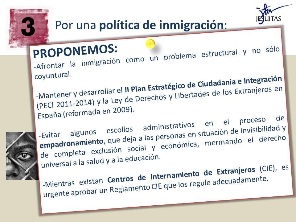 Por una política de inmigración: