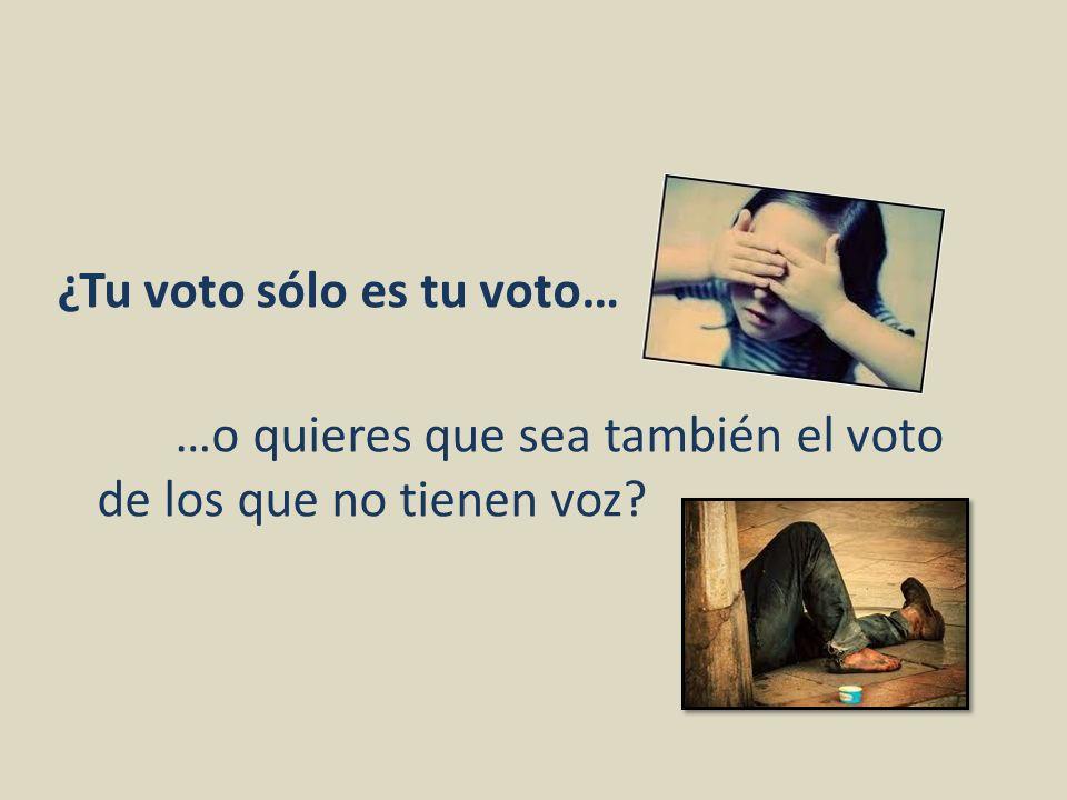 ¿Tu voto sólo es tu voto…