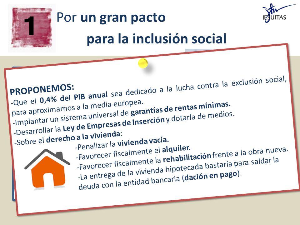 Por un gran pacto para la inclusión social