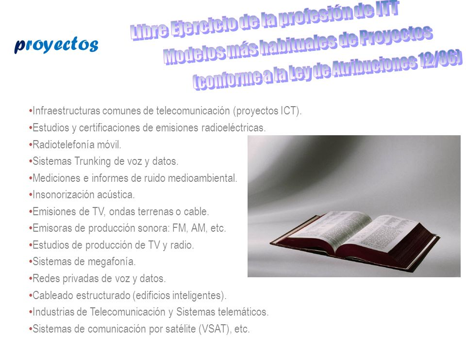 Libre Ejercicio de la profesión de ITT