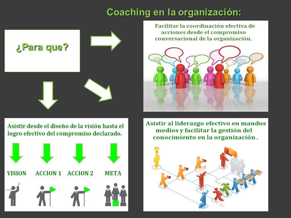 Coaching en la organización: