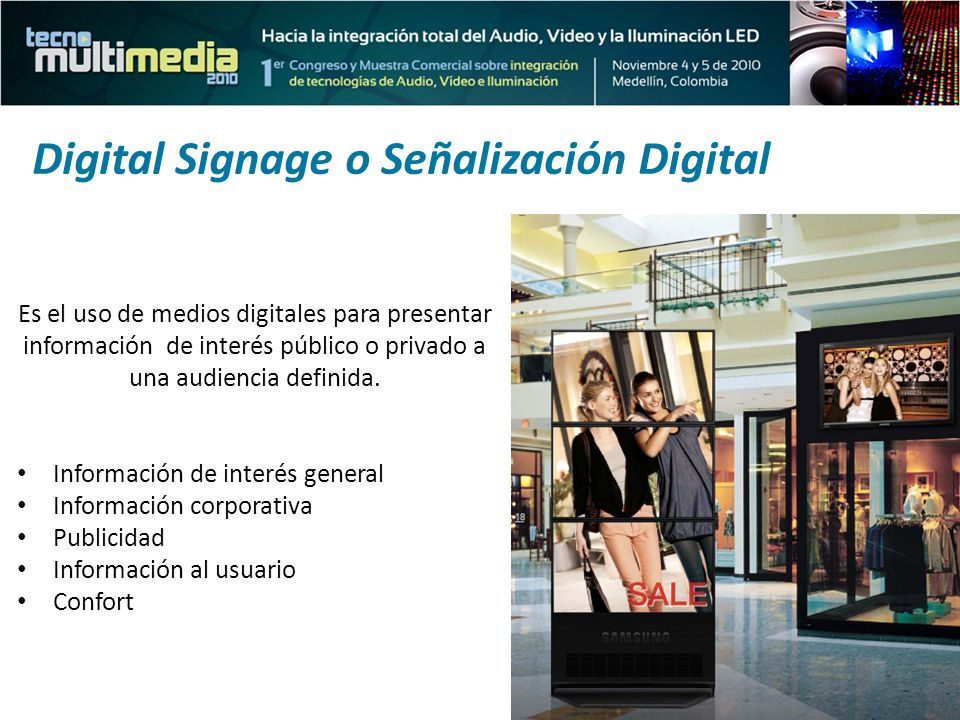 Digital Signage o Señalización Digital
