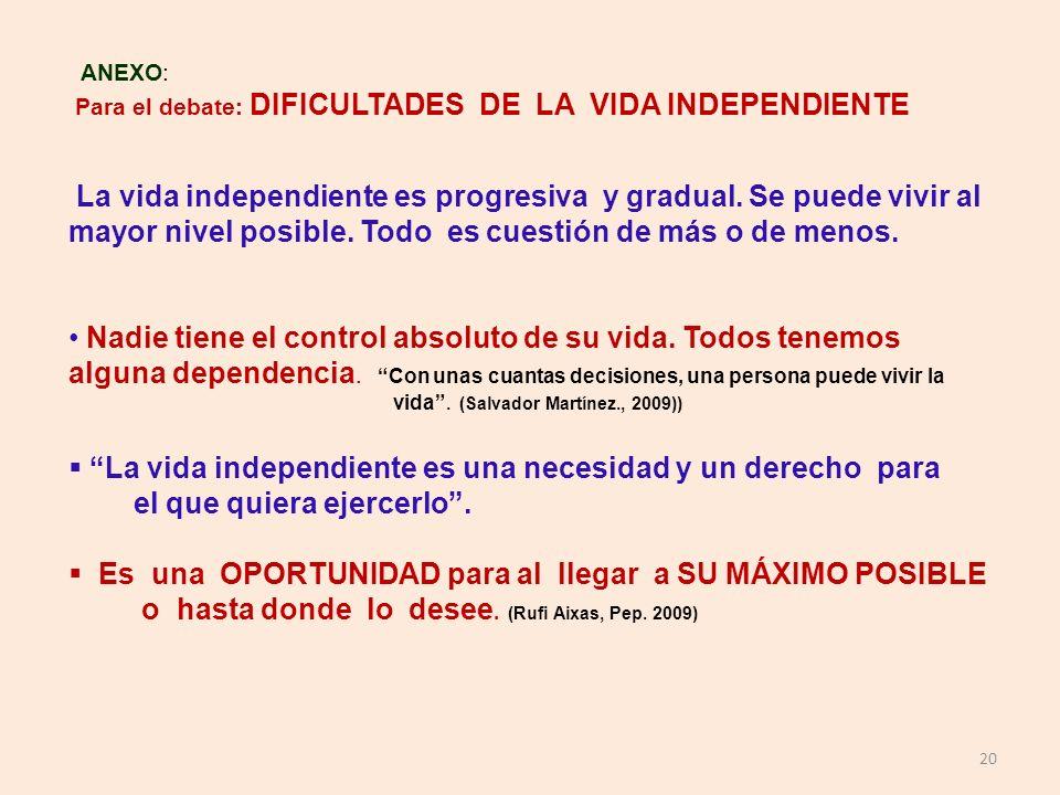 La vida independiente es una necesidad y un derecho para