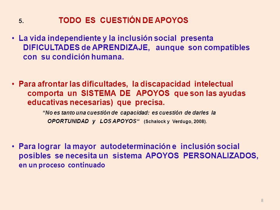 La vida independiente y la inclusión social presenta