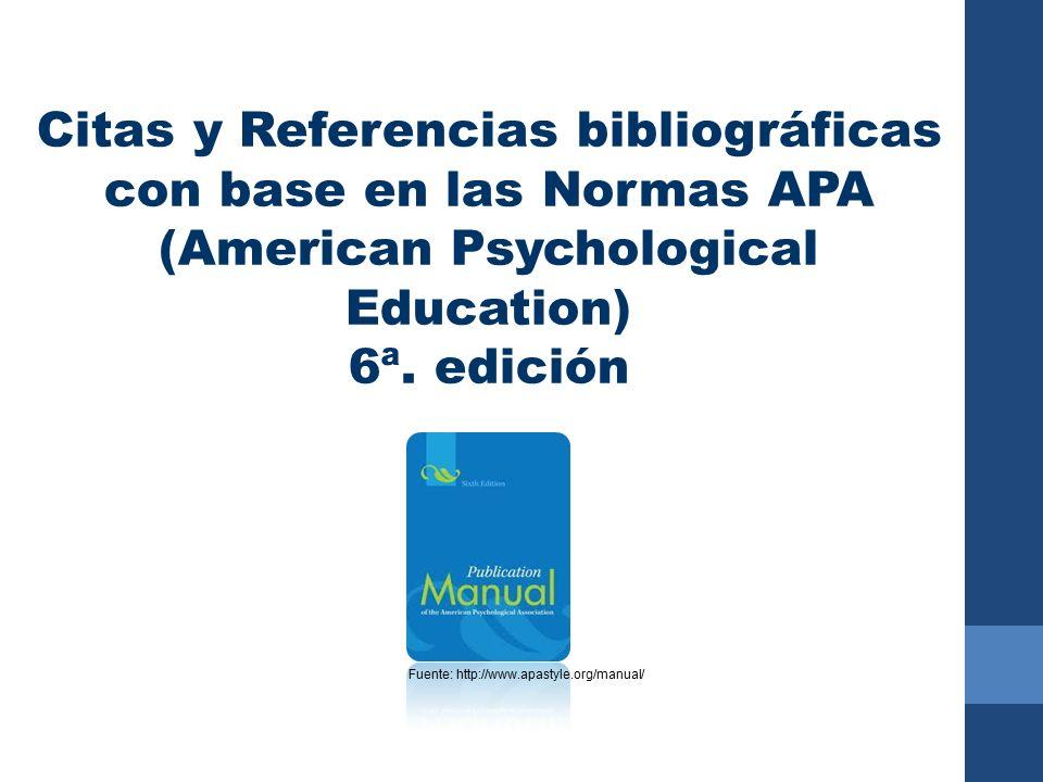 Citas Y Referencias Bibliográficas Con Base En Las Normas Apa
