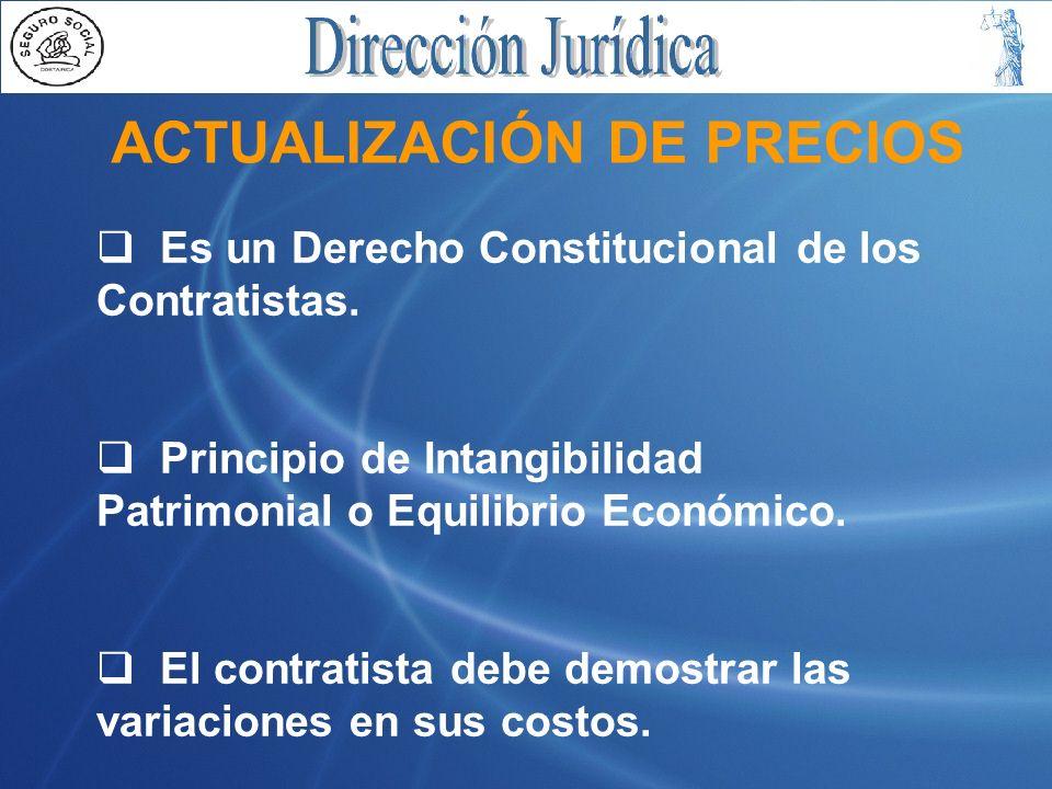 ACTUALIZACIÓN DE PRECIOS